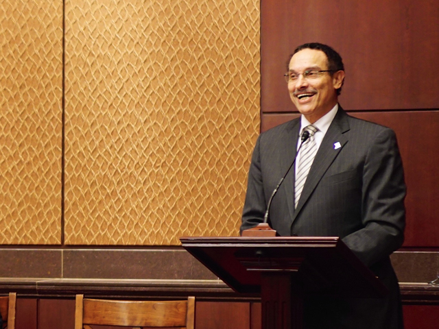 D.C. Mayor Vincent Gray, shown here at an event in September, joins us for The Politics Hour.