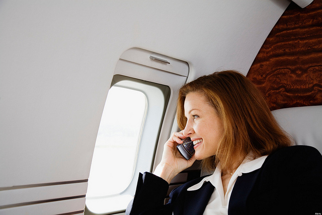Federal agencies are flirting with the idea of lifting a ban on cell phone calls while in flight.