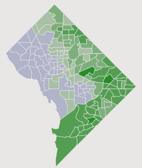 Click on the image above for an interactive map of the D.C. election results.