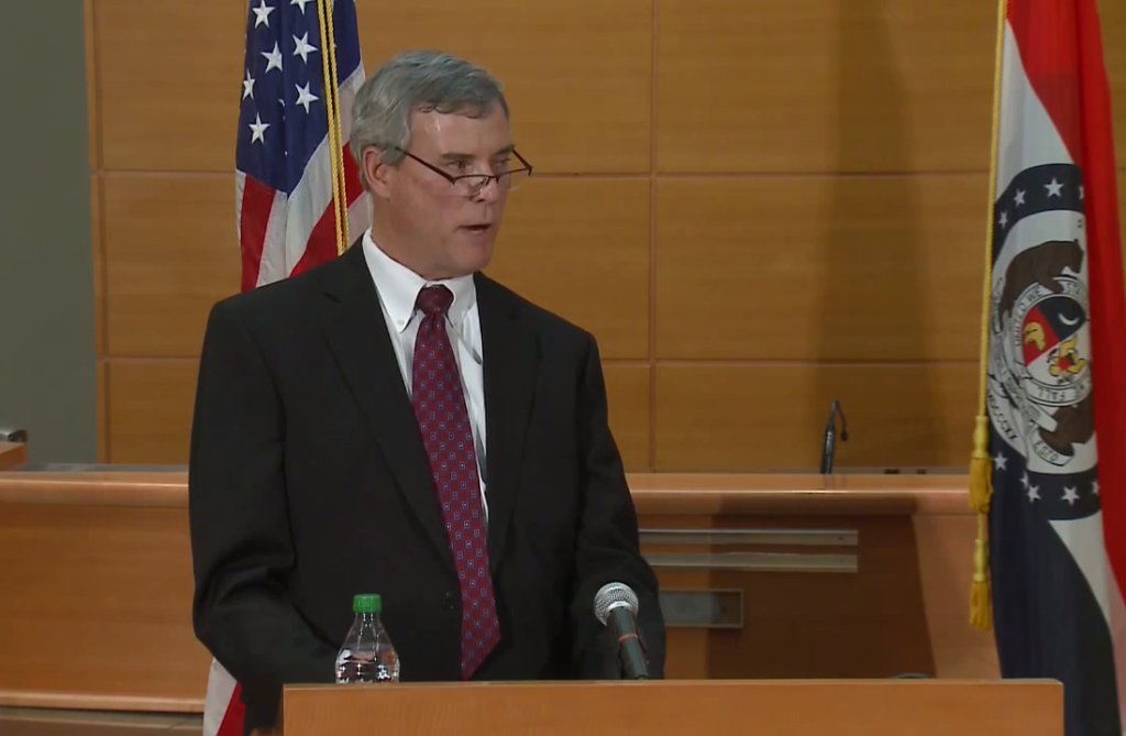 St. Louis County Prosecuting Attorney Robert McCulloch announces the grand jury decision in the Michael Brown case.