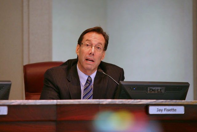 Arlington County Board Chair Jay Fisette at a January 2014 meeting.