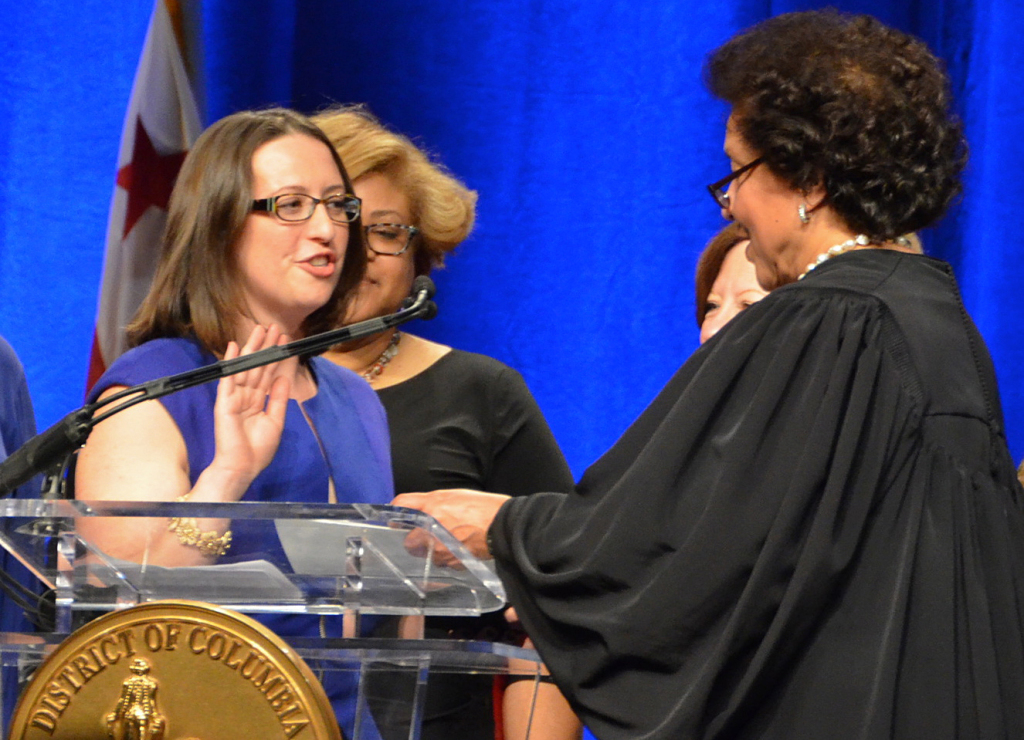 "New D.C. Council member Brianne Nadeau, one of our ""Politics Hour"" guests today, takes the oath of office on Jan. 2."