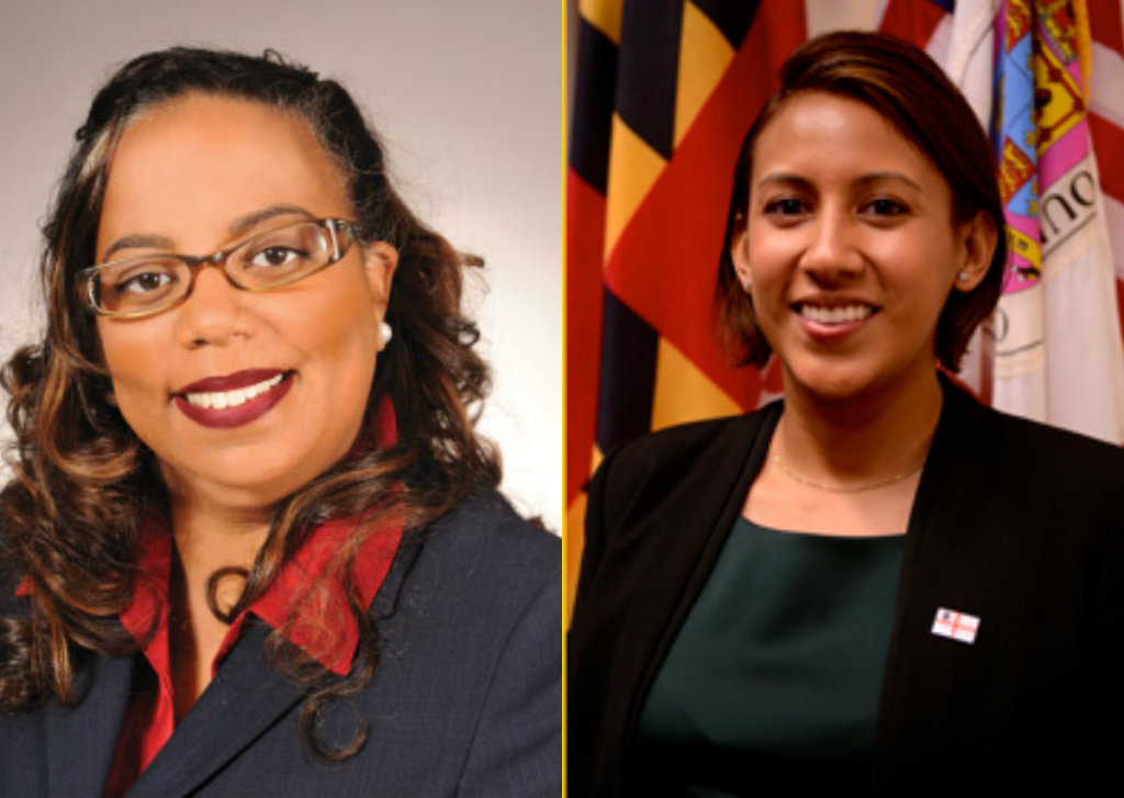 Prince George's County Council Member Deni Taveras, left, and Prince George's County Public Schools Board of Education Member  Dinora Hernandez.