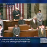An image from the first C-SPAN broadcast in 1979.