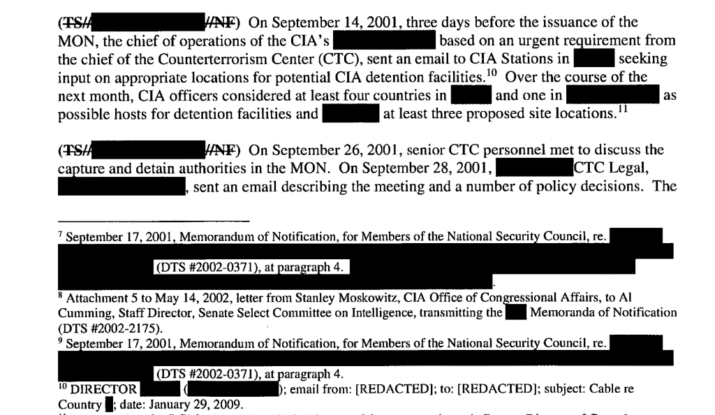 A portion of the report as initially released by the Senate Intelligence Committee.