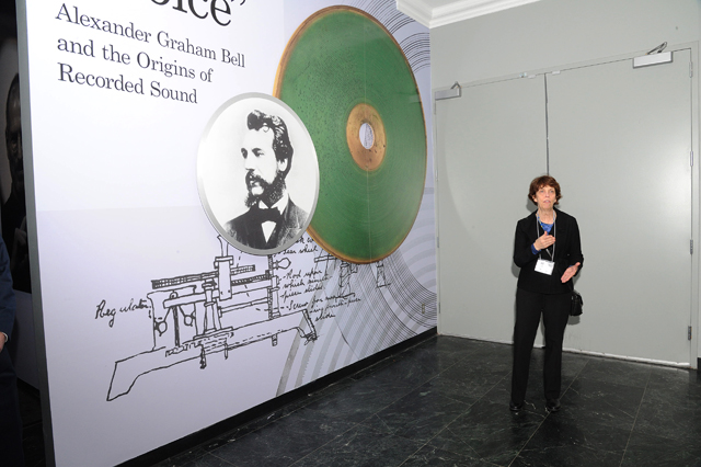 "Carlene Stephens leads a tour in January of ""Hear My Voice: Alexander Graham Bell and the Origins of Recorded Sound."""
