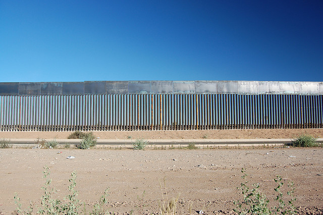 Border fence between Mexico and California.