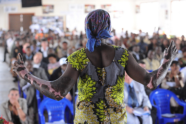 Survivors of rape gathered in Gisenyi, Rwanda, to call for an end to violence against women at a UNICEF and VDay event.