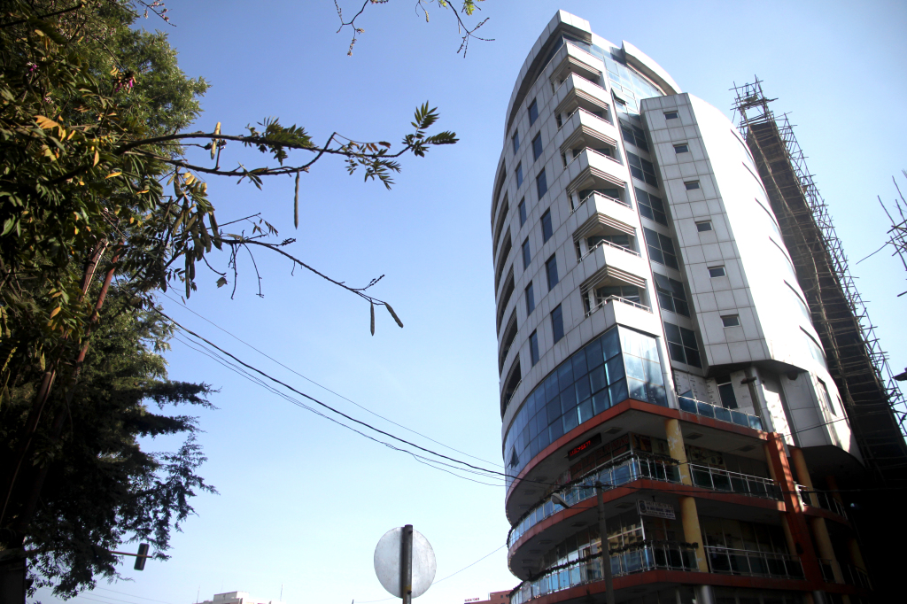 A modern building in downtown Addis. Photo by Michael Martinez.