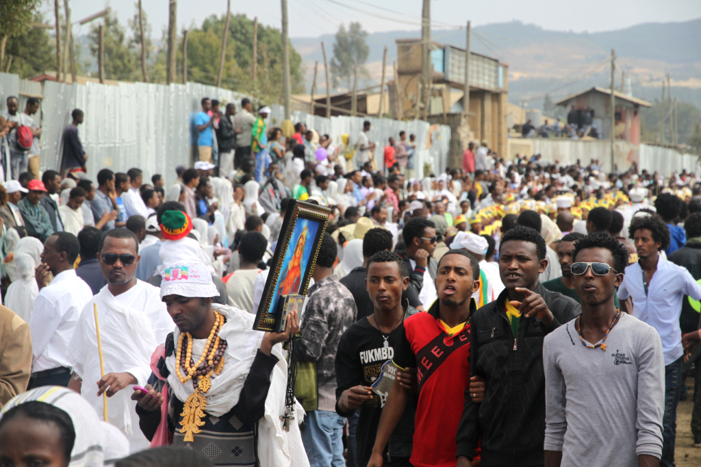 Young Ethiopians gathered at the epiphany celebration in Addis Ababa in January 2014. Timkat is one of the holiest days in the Ethiopian Orthodox calendar.
