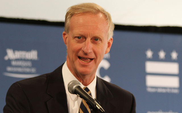 D.C. City Councilmember Jack Evans at the Marriott Marquis Hotel in 2010.