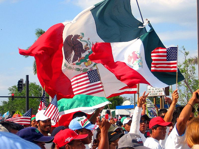 An immigration reform rally in Fort Myers, Florida in 2006.