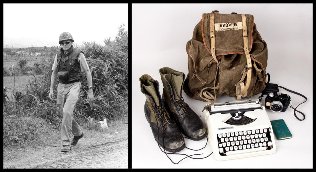 Associated Press bureau chief Malcolm Browne's Vietnam gear.