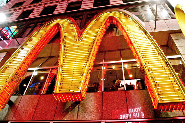 A McDonald's in Times Square, New York
