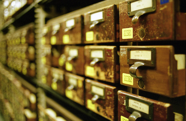 Card catalogues at The Library of Congress.