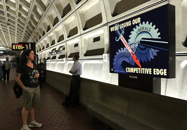 An issue-oriented ad on the Metro in 2012.