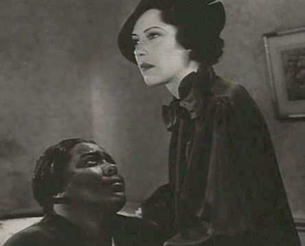 "Actresses Louise Beavers (left) and Fredi Washington (right) play black mother Delilah and mixed-race daughter Peola in the 1934 film ""Imitation of Life."" Peola passes as white to seek advancement in a segregated society."