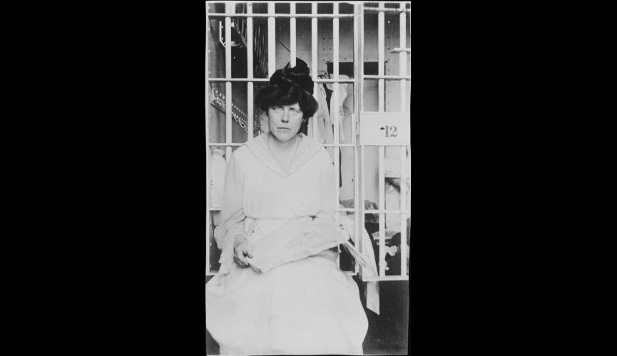 Lucy Burns in Jail  July 1917