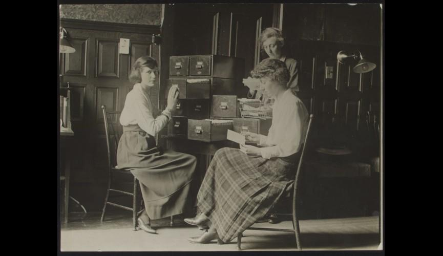 Office of Emma Wold Standing Headquarters Secretary 1919