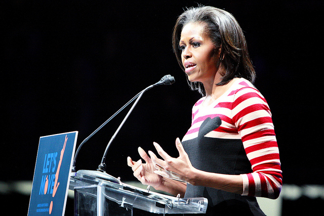 First Lady Michelle Obama at 2012 'Let's Move!' Day.