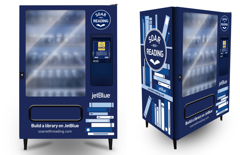 A mock-up of the new book vending machines that are located in Southeast, D.C.