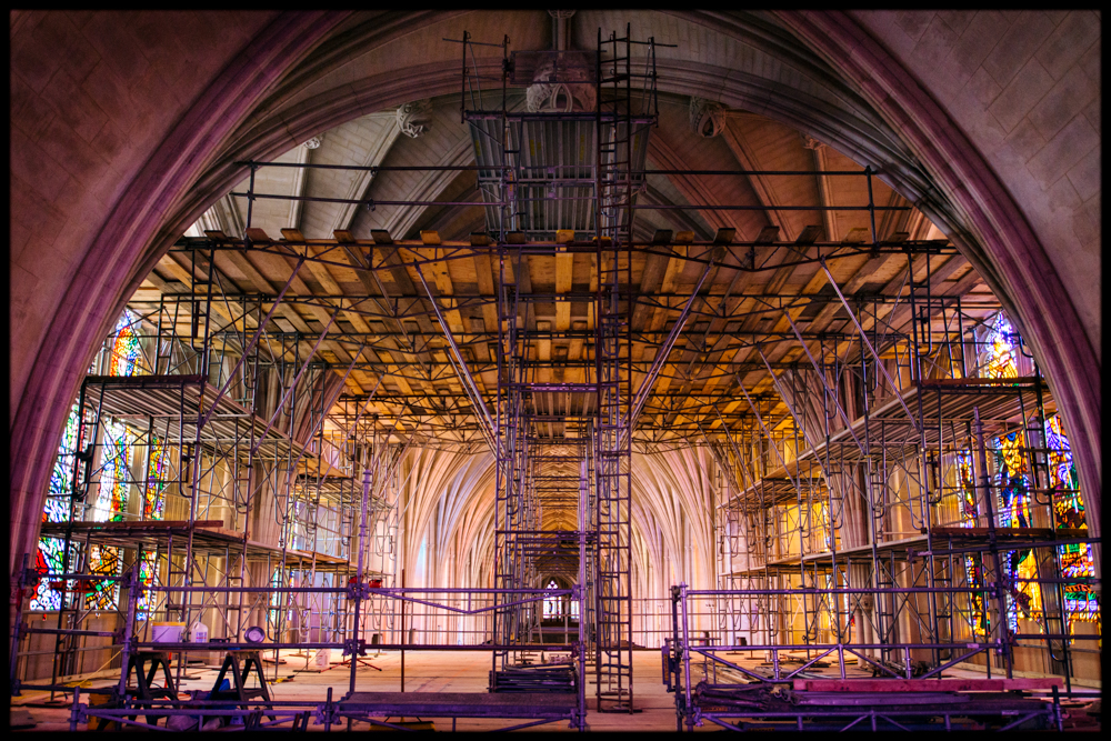 Inside the repair of the Washington National Cathedral.