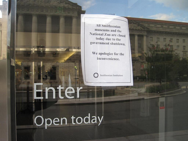 The National Museum of American History on Oct. 1, 2013, during a federal government shutdown.