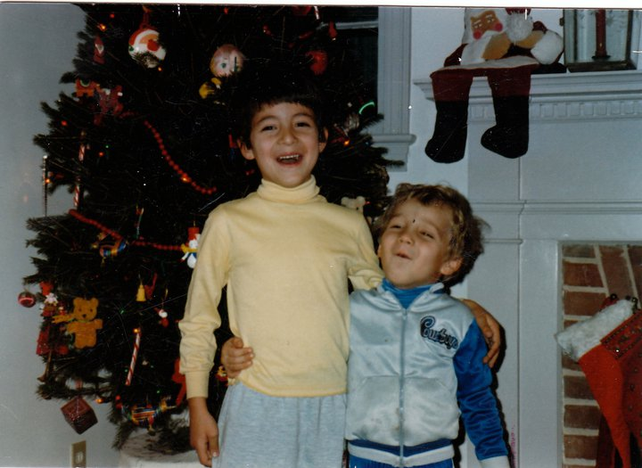 Producer Michael Martinez (right) in a Dallas Cowboys jacket and his brother, PJ (left), shortly before his family moved to Jordan in 1988. They return to D.C. in 1991, and it's been home for his family ever since.