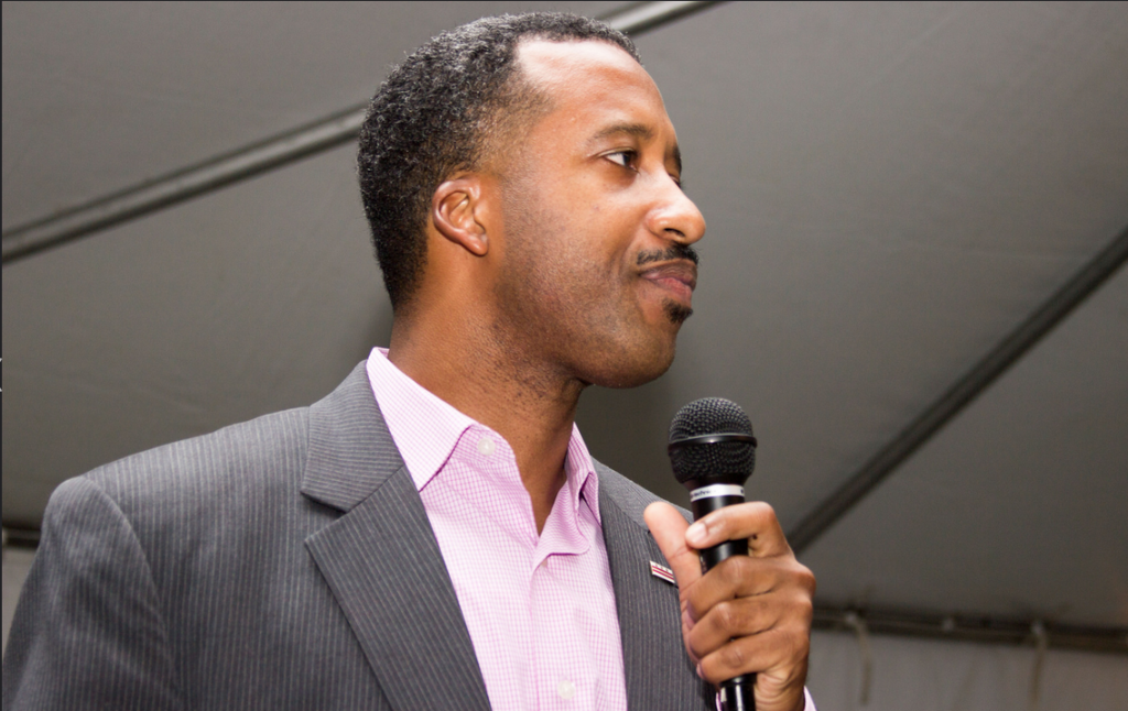 D.C. Council member Kenyan McDuffie a July birthday event in support of Muriel Bowser.