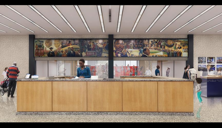 Martin Luther King Jr Memorial Library Schematic Design 6