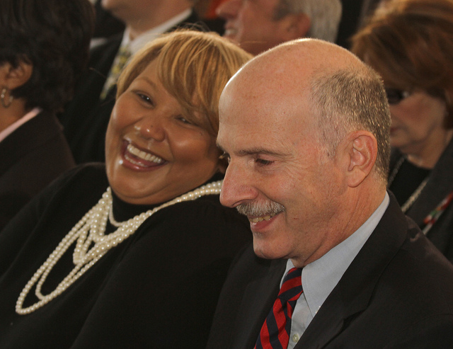 Chairman of D.C.'s city council Phil Mendelson with council member Yvette Alexander in 2010.