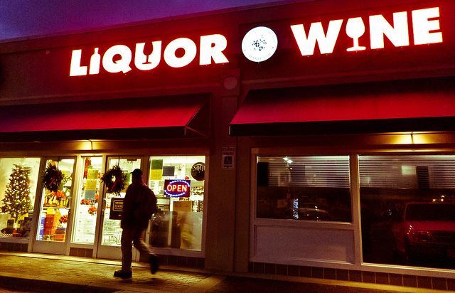 A liquor store in Bethesda, Md.