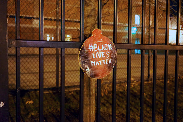"A ""Black Lives Matter"" ornament in Columbia Heights in 2014."
