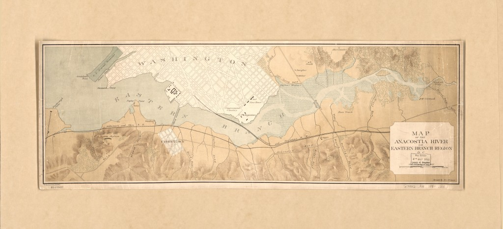 Map of the Anacostia River or Eastern Branch region D.C.