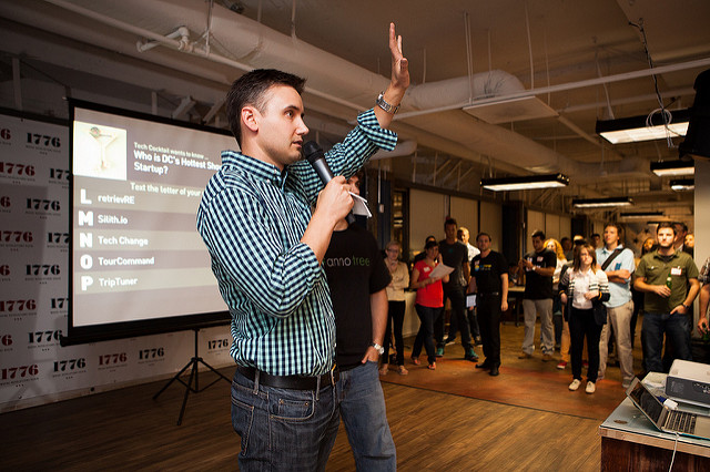 A 2013 mixer and startup showcase hosted by Tech Cocktail in Washington D.C.