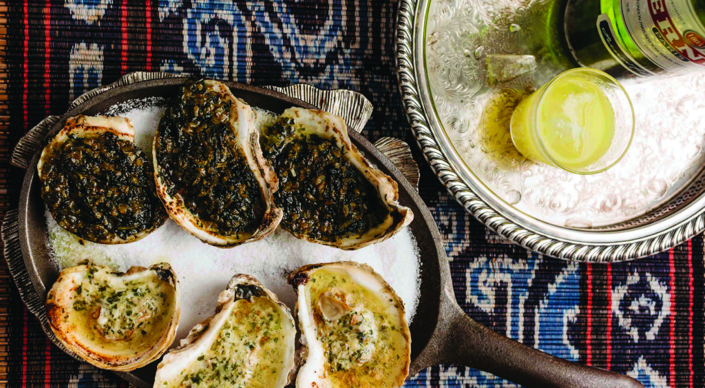 Broiled oysters rockefeller
