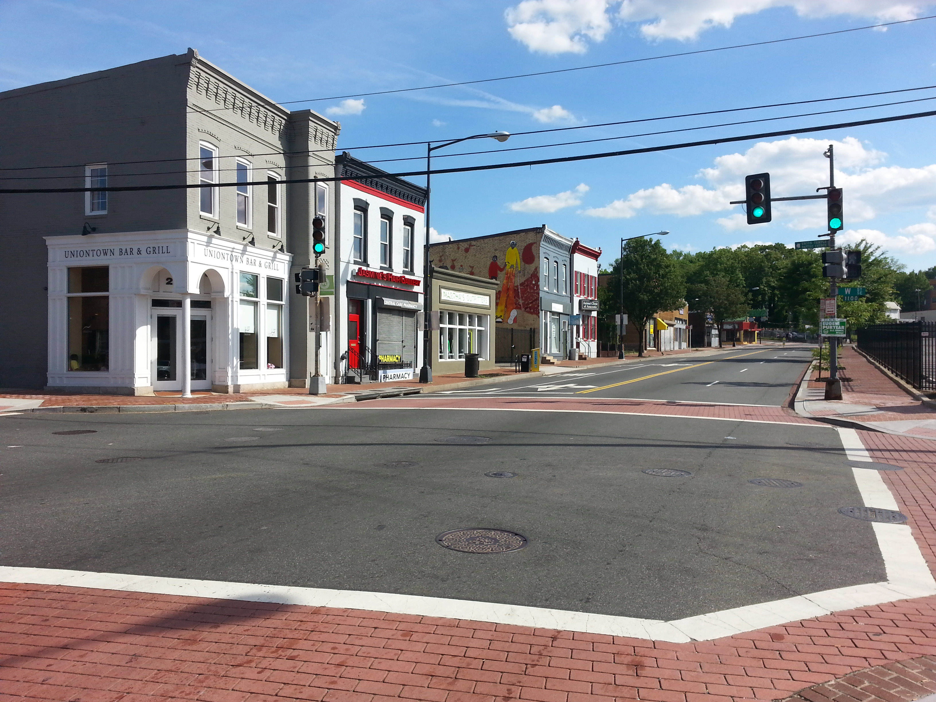 Martin Luther King Jr Ave SE in Anacostia. Photo Credit: BeyondDC