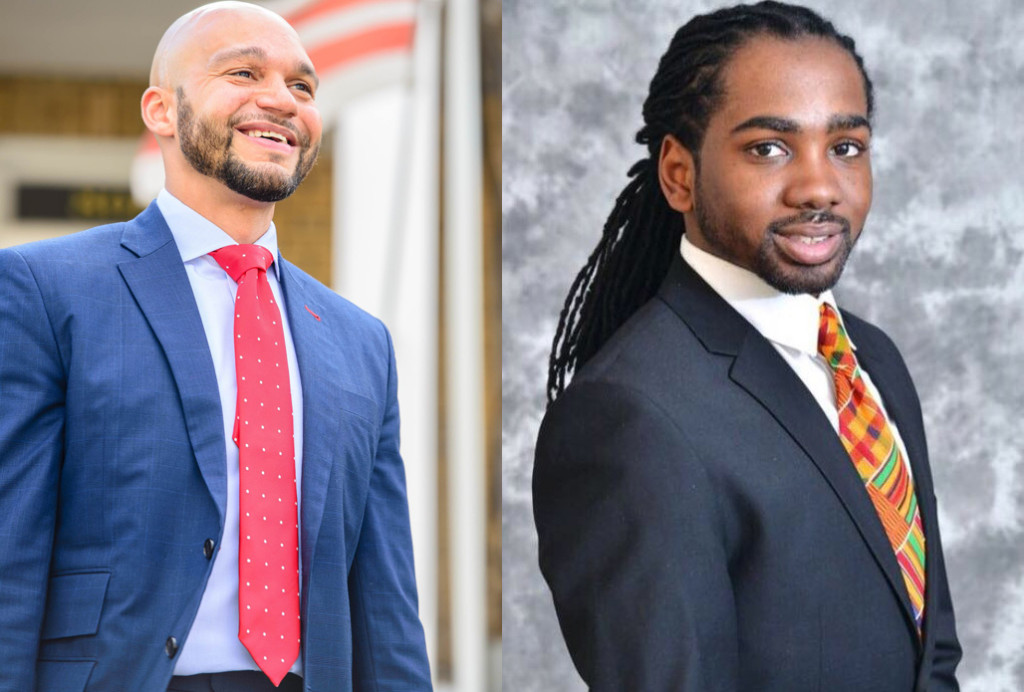 Democratic nominees for D.C. Council Robert White (left) and Trayon White (right).