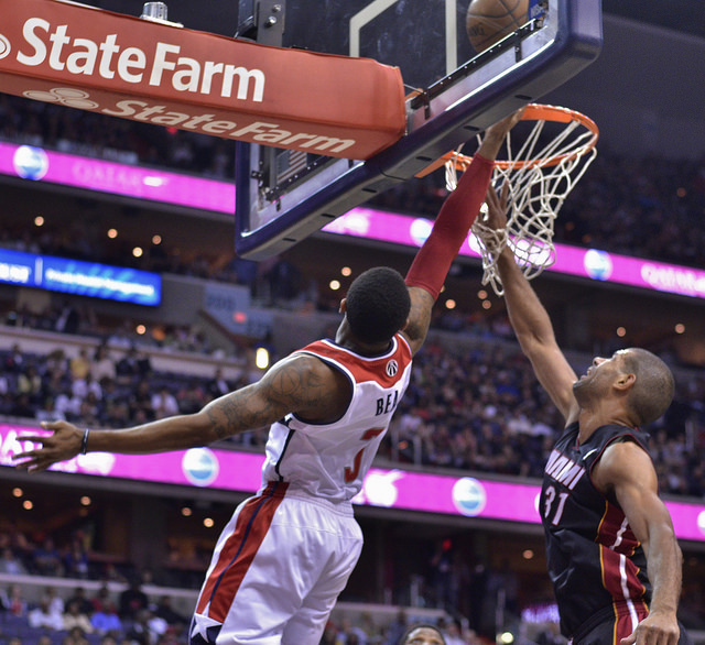 The Washington Wizards face the Miami Heat in 2014.