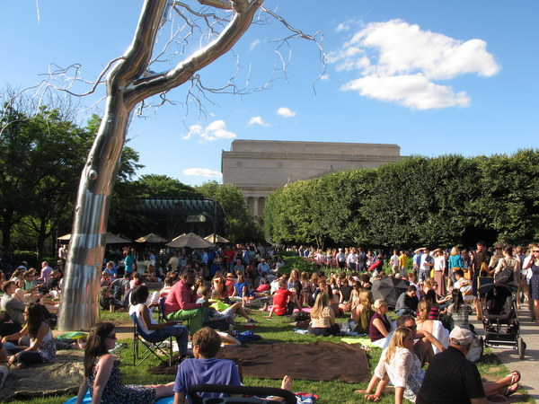 The free jazz concert in the National Gallery's Sculpture Garden.