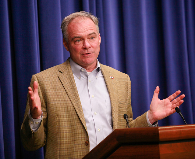 U.S. Senator Tim Kaine of Virginia, a finalist for Democratic candidate for vice president.