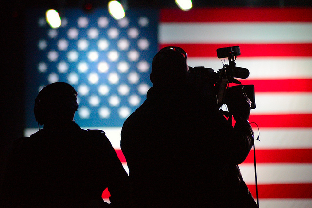 The press at a campaign event of Gov. Mitt Romney at Reno, Nevada, in 2012.