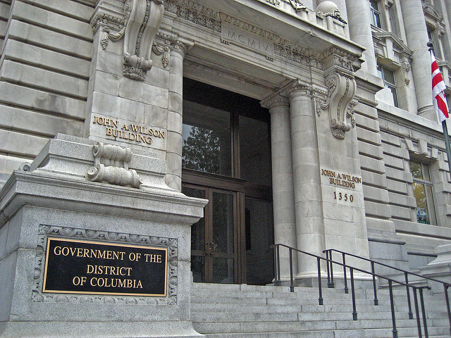The John A. Wilson Building in downtown D.C.