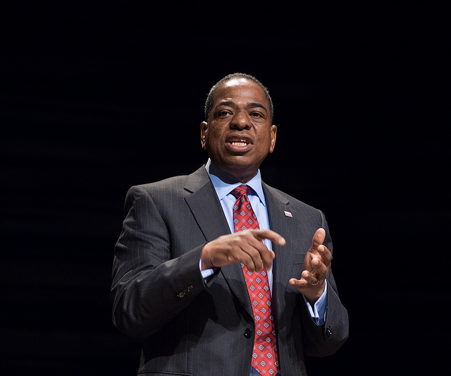 D.C. Councilmember Vincent Orange at the 2014 Southeast Mayoral forum at Arena Stage in Washington, DC.