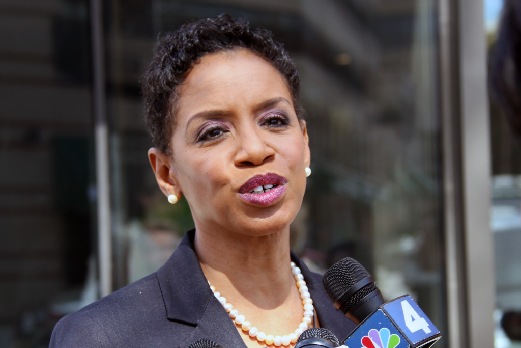 Donna Edwards at WAMU in March, 2015.