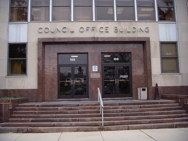 The Montgomery County Council building.