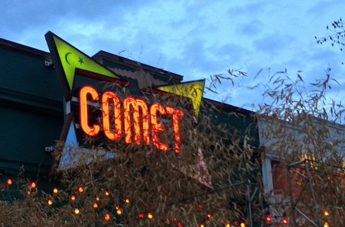 Comet Ping Pong, a pizza and ping pong restaurant in Chevy Chase, a neighborhood in Northwest D.C.