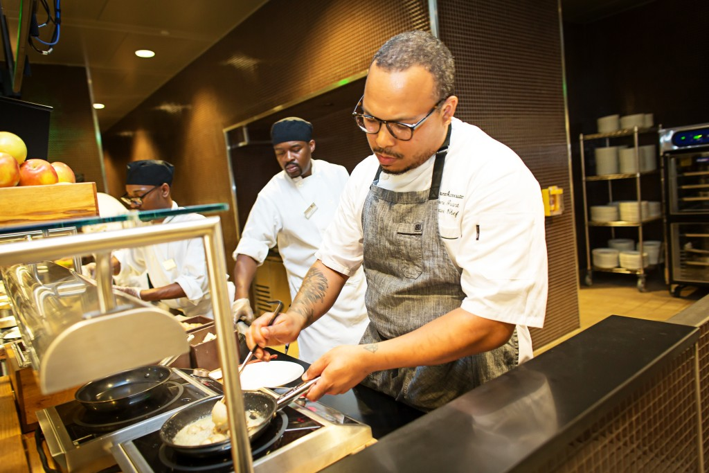 Jerome Grant, Sweet Home Cafe's executive chef, formerly led Mitsitam Cafe at the Museum of the American Indian.
