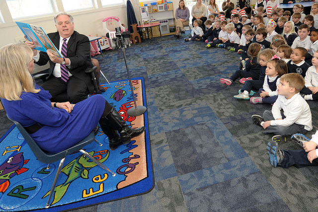 Governor Hogan visits NAPS School in Annpolis, Maryland in 2015.