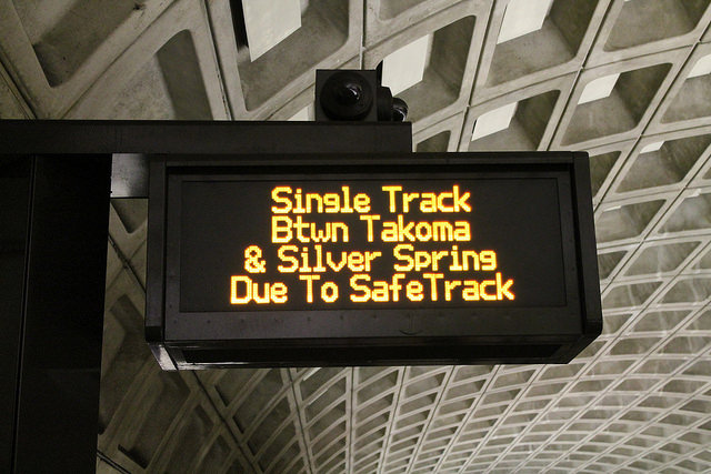 Safetrack delays on Metro's Red Line in 2016.